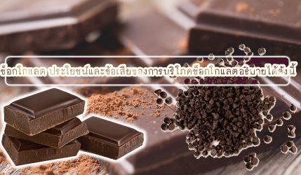 ช็อกโกแลต ประโยชน์และข้อเสียของการบริโภคช็อกโกแลตอธิบายได้ดังนี้